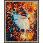 N143 Парящая в танце Раскраска картина по номерам на холсте
