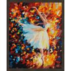 N181 Парящая в танце Раскраска картина по номерам на холсте