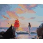 Ассоль в ожидании встречи Раскраска картина по номерам на холсте ZX 10134