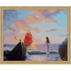 N118 Ассоль в ожидании встречи Раскраска картина по номерам на холсте