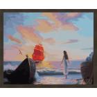 N181 Ассоль в ожидании встречи Раскраска картина по номерам на холсте