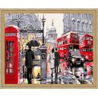 N118 Улочки Лондона Раскраска картина по номерам на холсте