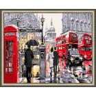 N143 Улочки Лондона Раскраска картина по номерам на холсте