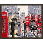N181 Улочки Лондона Раскраска картина по номерам на холсте