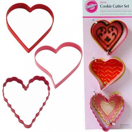 Сердце 3шт Формы для вырезания печенья Wilton ( Вилтон )