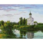 Церковь на берегу Раскраска картина по номерам на холсте ZX 20390