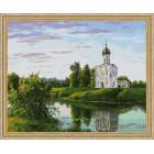 N118 Церковь на берегу Раскраска картина по номерам на холсте