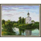 N143 Церковь на берегу Раскраска картина по номерам на холсте