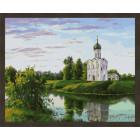 N181 Церковь на берегу Раскраска картина по номерам на холсте