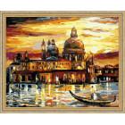 N118 Золотое закат Венеции Раскраска картина по номерам на холсте