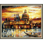 N143 Золотое закат Венеции Раскраска картина по номерам на холсте