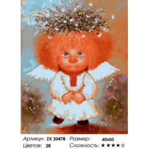 Количество цветов и сложность Ангел чистоты Раскраска картина по номерам на холсте ZX 20478