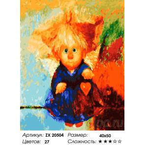 Количество цветов и сложность Ангел нежности Раскраска картина по номерам на холсте ZX 20504