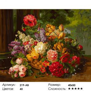 Сложность и количество красок В дар флоре Раскраска картина по номерам на холсте Белоснежка 219-AB