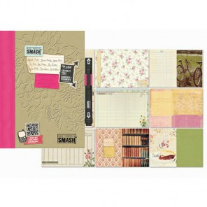 Розовая вещица Смэшбук блокнот книжка для скрапбукинга Pretty Pink K&Company