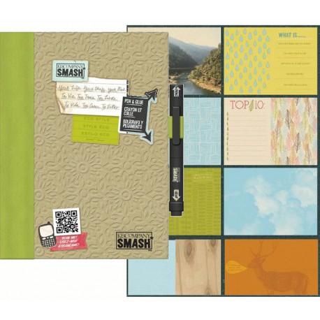 Зеленый Смэшбук блокнот книжка для скрапбукинга Eco Green K&Company страницы