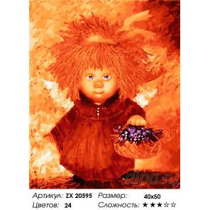 Количество цветов и сложность Ангел душевности Раскраска картина по номерам на холсте ZX 20595