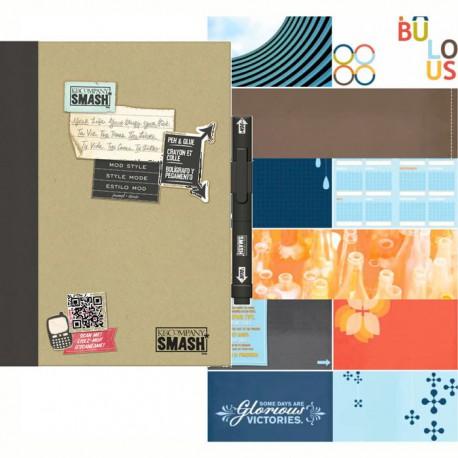 Модный черный Смэшбук блокнот книжка для скрапбукинга Mod Black K&Company страницы