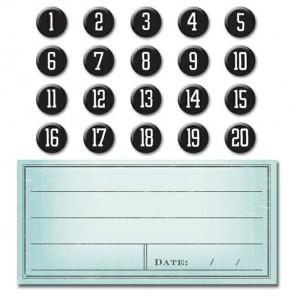 Цифры и бланки для подписей Smash ( Смэш ) для скрапбукинга K&Company