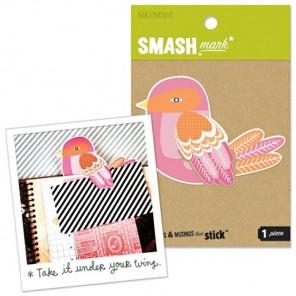 Розовая птица Украшение Smash ( Смэш ) для скрапбукинга K&Company