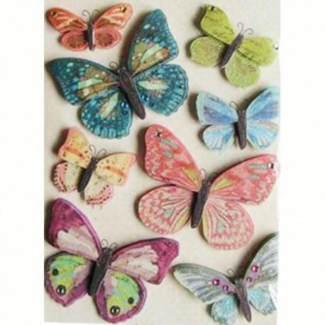 Юбилейные бабочки Стикеры для скрапбукинга, кардмейкинга K&Company