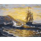 Волнения моря Раскраска картина по номерам на холсте ZX 20116