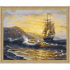 N118 Волнения моря Раскраска картина по номерам на холсте