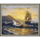 N143 Волнения моря Раскраска картина по номерам на холсте