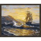 N181 Волнения моря Раскраска картина по номерам на холсте