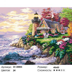 Количество цветов и сложность Живописный маяк Раскраска картина по номерам на холсте ZX 20003