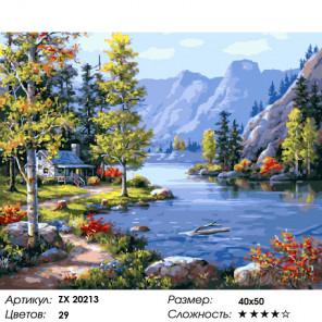Количество цветов и сложность Домик в горах Раскраска картина по номерам на холсте ZX 20213