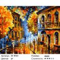 Осенняя непогода Раскраска картина по номерам на холсте