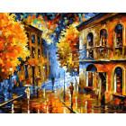 Осенняя непогода Раскраска картина по номерам на холсте ZX 10121
