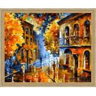 N118 Осенняя непогода Раскраска картина по номерам на холсте