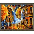 N143 Осенняя непогода Раскраска картина по номерам на холсте