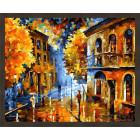 N181 Осенняя непогода Раскраска картина по номерам на холсте