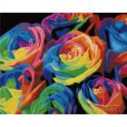Радужные розы Раскраска картина по номерам на холсте ZX 20001