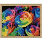 N118 Радужные розы Раскраска картина по номерам на холсте