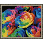 N143 Радужные розы Раскраска картина по номерам на холсте