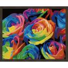 N181 Радужные розы Раскраска картина по номерам на холсте