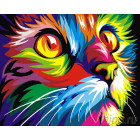Радужный кот. Ваю Рамдони Раскраска картина по номерам на холсте ZX 20237