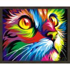 N181 Радужный кот. Ваю Рамдони Раскраска картина по номерам на холсте