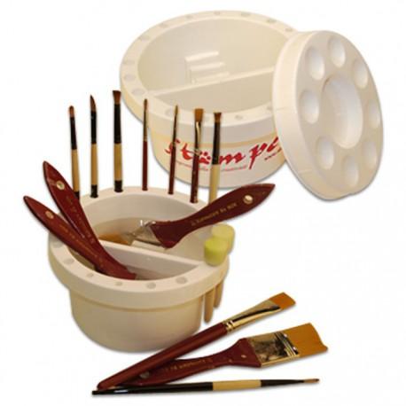 Кистемойка для хранения и мытья кистей Stamperia
