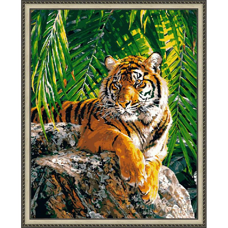 ZX 20047 Бенгальский красавец Раскраска картина по номерам ...