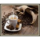 N143 Кофе с корицей Раскраска картина по номерам на холсте
