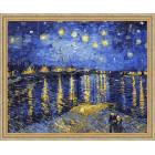 N118 Звездная ночь. Ван Гог Раскраска картина по номерам на холсте