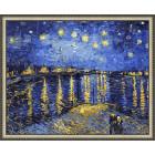 N143 Звездная ночь. Ван Гог Раскраска картина по номерам на холсте