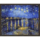 N181 Звездная ночь. Ван Гог Раскраска картина по номерам на холсте