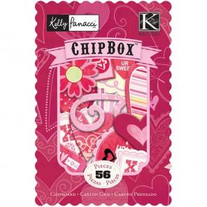 Валентинки Чипборд для скрапбукинга, кардмейкинга K&Company