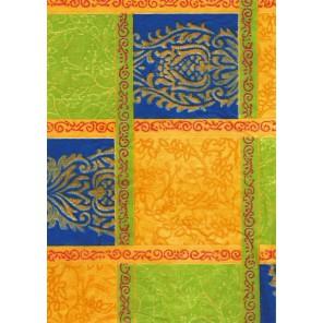 Квадраты сине-желтые Бумага для декопатча Decopatch